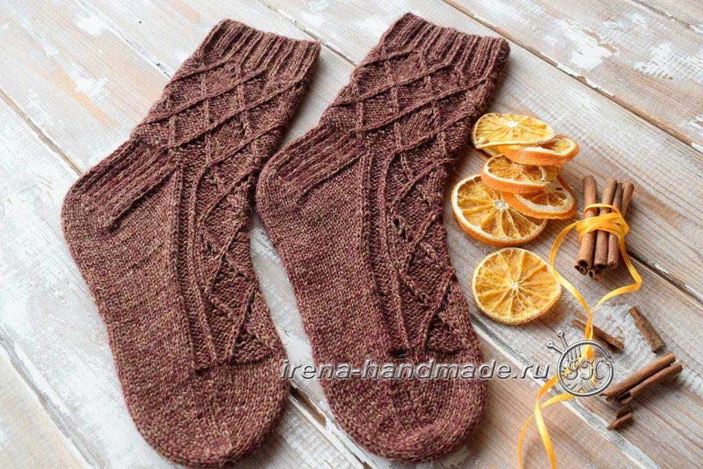 Ажурные носки «Корица» - начало