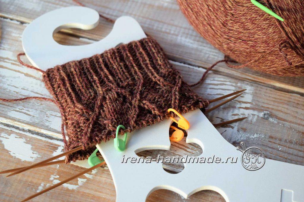 Ажурные носки «Корица» - паголенок
