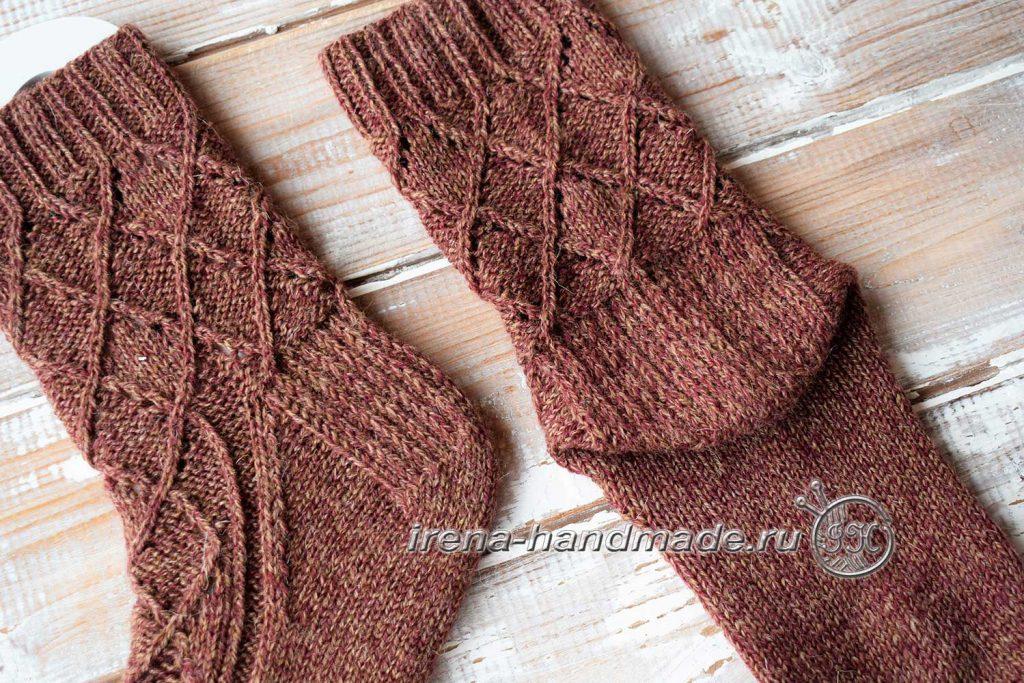 Ажурные носки «Корица» - подкова