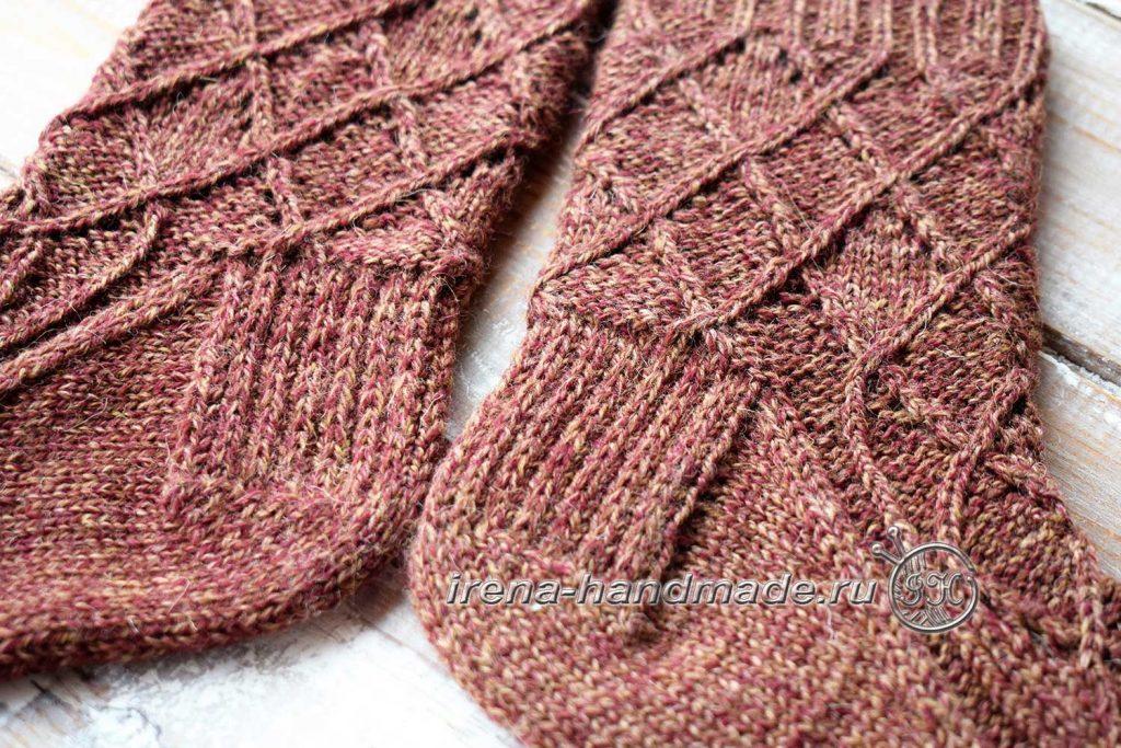 Ажурные носки «Корица» - пятка