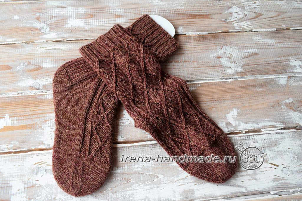 Ажурные носки «Корица» - схема стопы