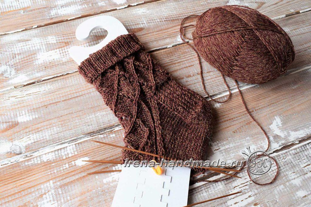 Ажурные носки «Корица» - стопа