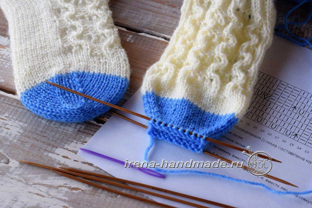 Ажурные носки «Ипомея» - мысок