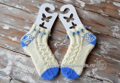 Ажурные носки «Ипомея» - начало