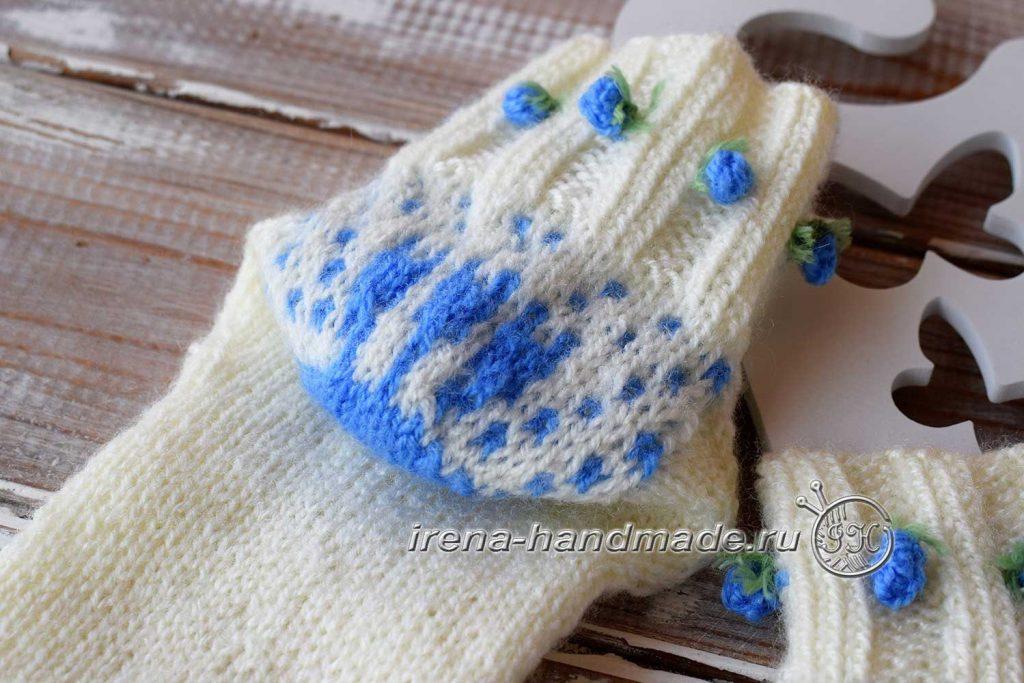 Ажурные носки «Ипомея» - пятка
