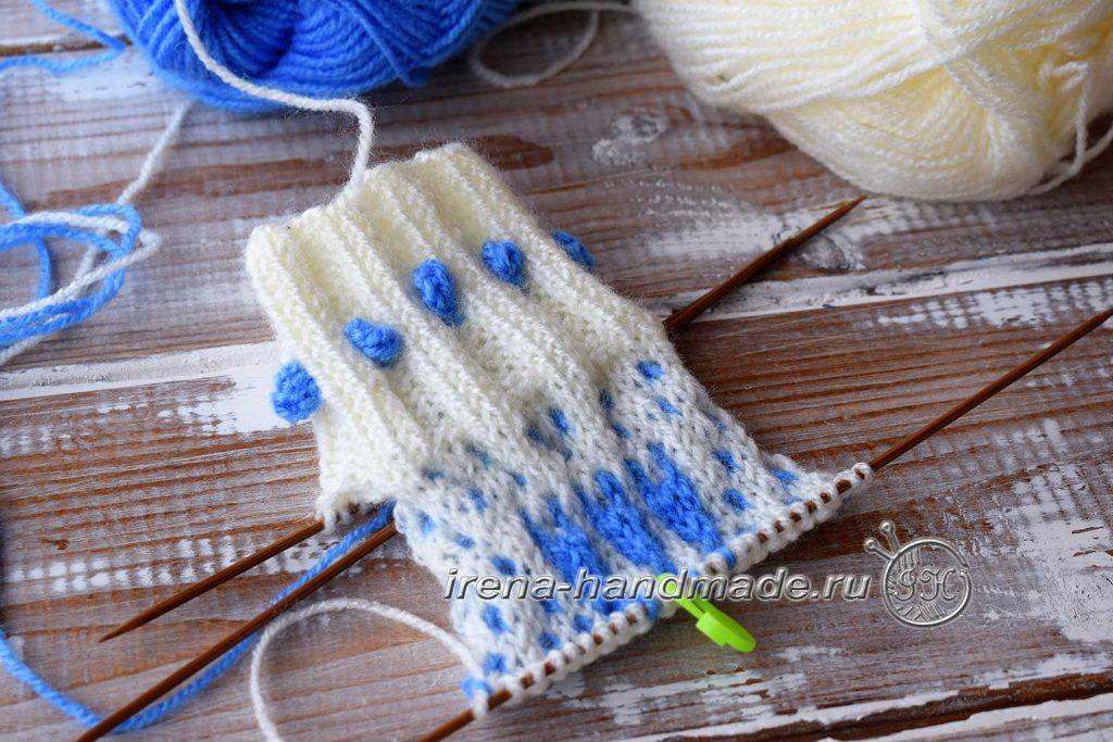 Ажурные носки «Ипомея» - стенка пятки