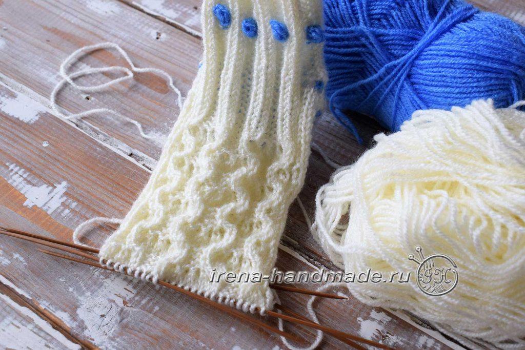 Ажурные носки «Ипомея» - узор «Ракушки»