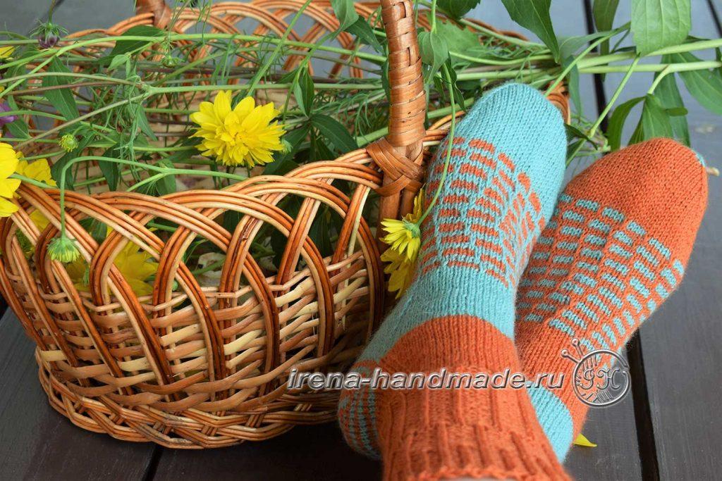 Носки со спиральной пяткой «Кантри» - итог
