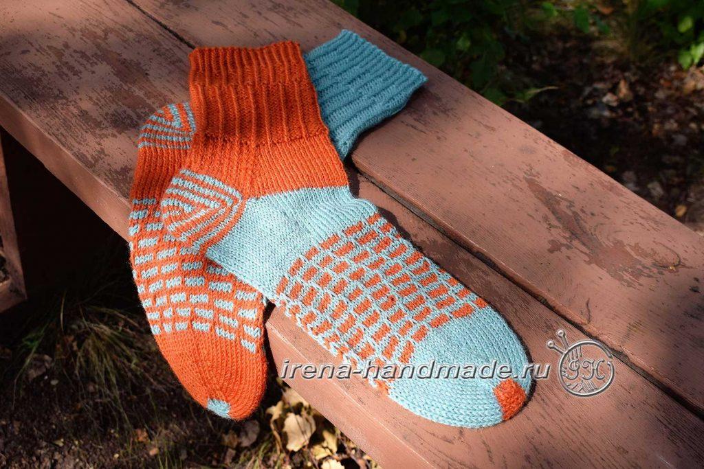 Носки со спиральной пяткой «Кантри» - итог 2