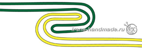 Носки со спиральной пяткой «Кантри» - конфигурация «А» рисунок