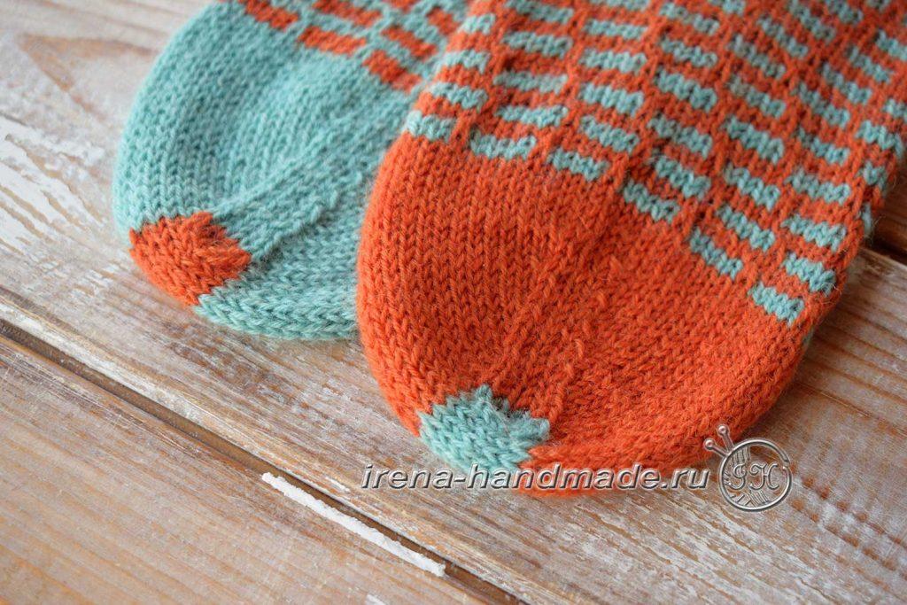 Носки со спиральной пяткой «Кантри» - мысок
