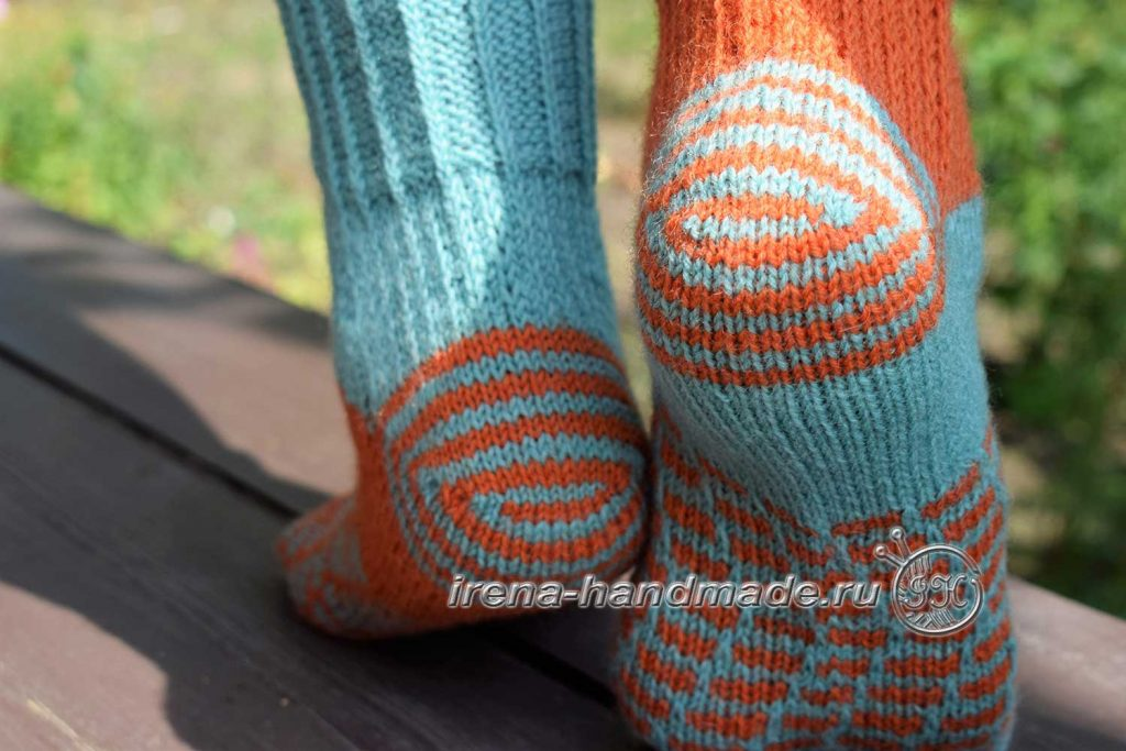 Носки со спиральной пяткой «Кантри» - начало
