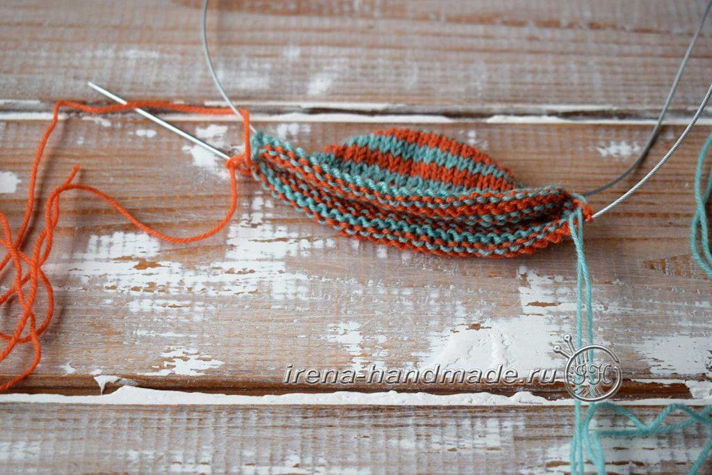 Носки со спиральной пяткой «Кантри» - переход к подъему