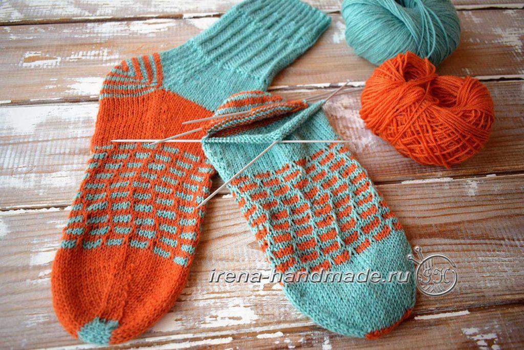 Носки со спиральной пяткой «Кантри» - подъем к манжете
