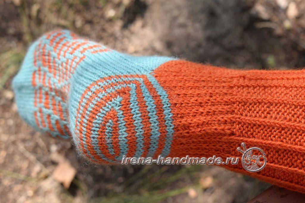 Носки со спиральной пяткой «Кантри» - стенка пятки