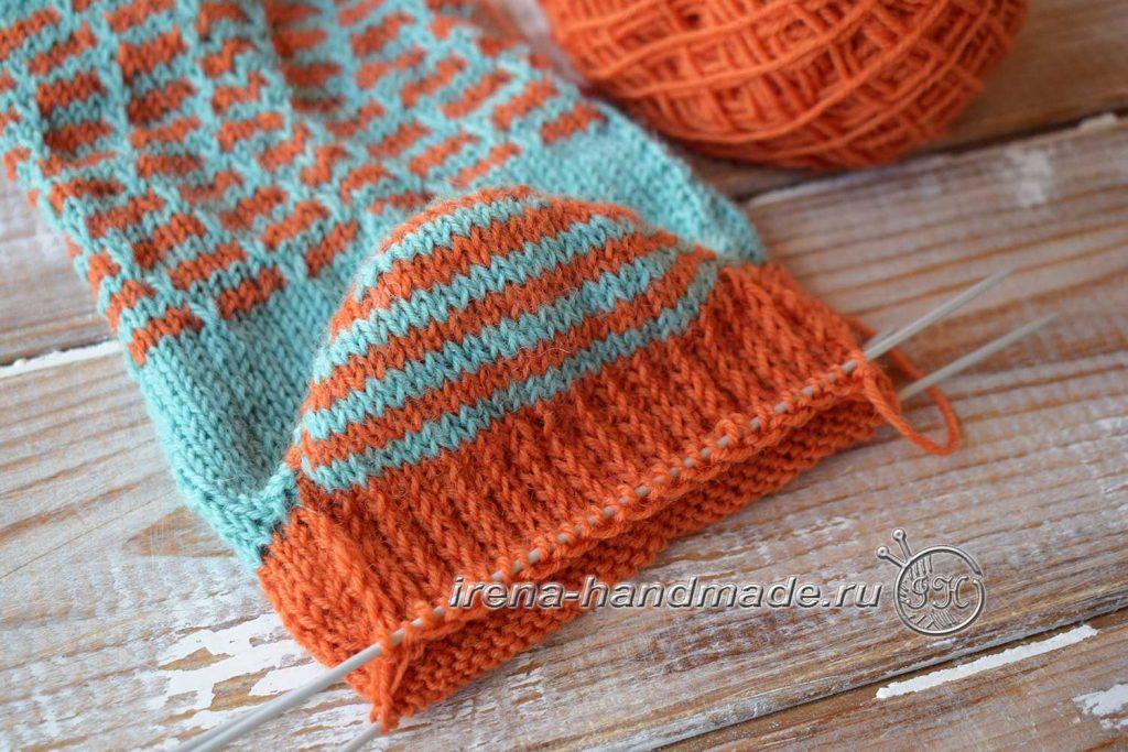 Носки со спиральной пяткой «Кантри» - укрепленная пятка