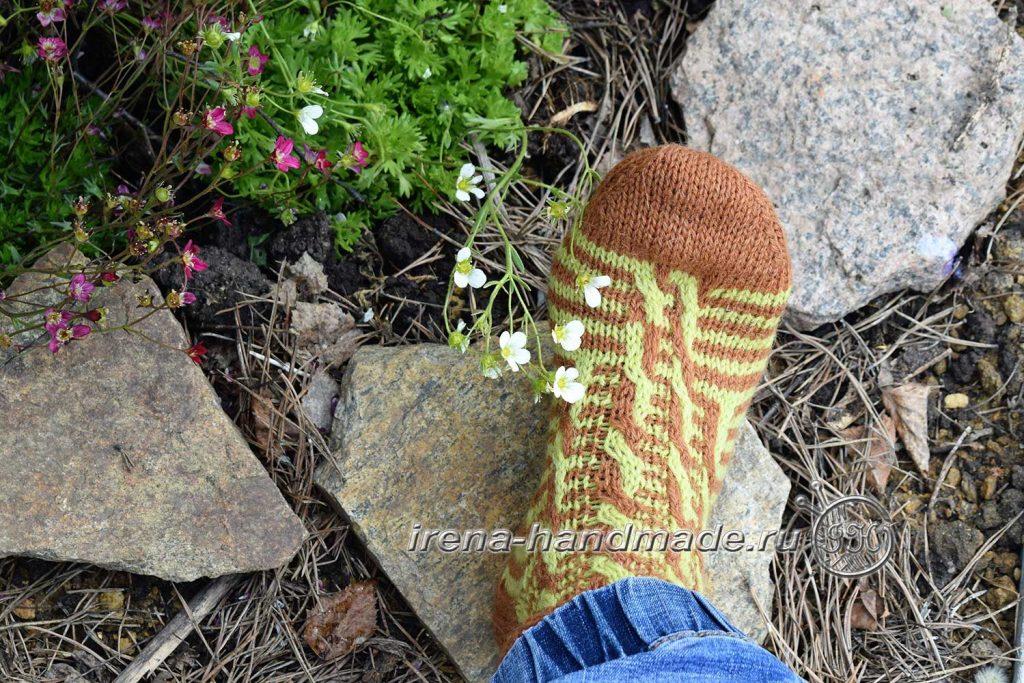 Носки «Задорные жирафики» - мысок