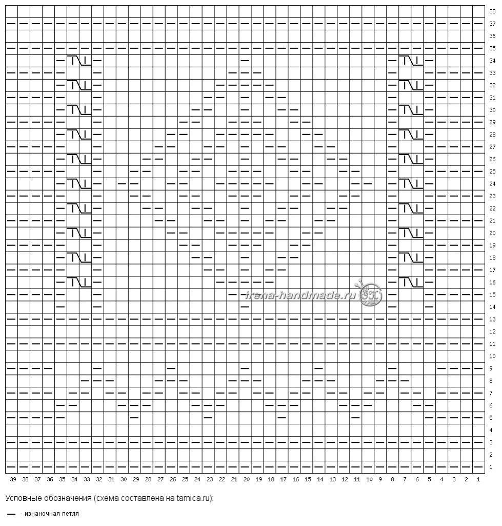 Шарф «Луиджи» - схема узора «Луиджи»
