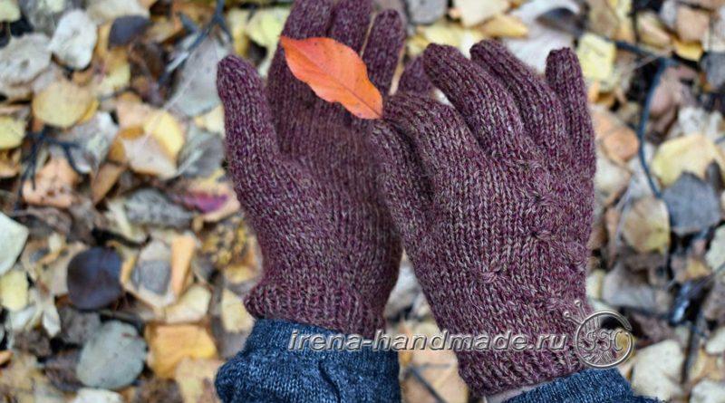 Как связать перчатки - начало