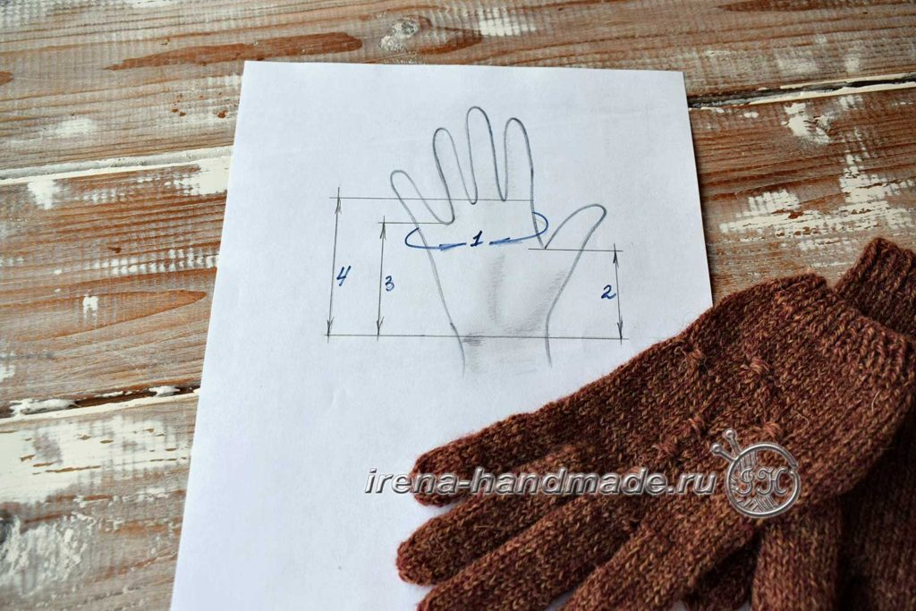 Как связать перчатки - снятие мерок