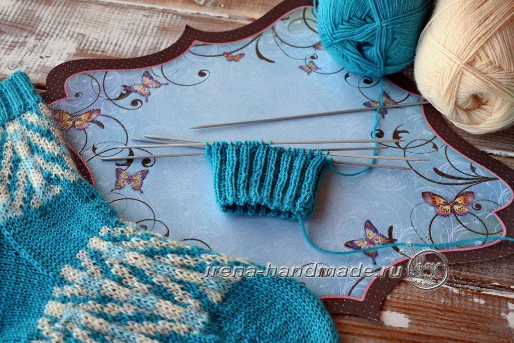 Носки с жаккардовым узором «Бораго» - манжета