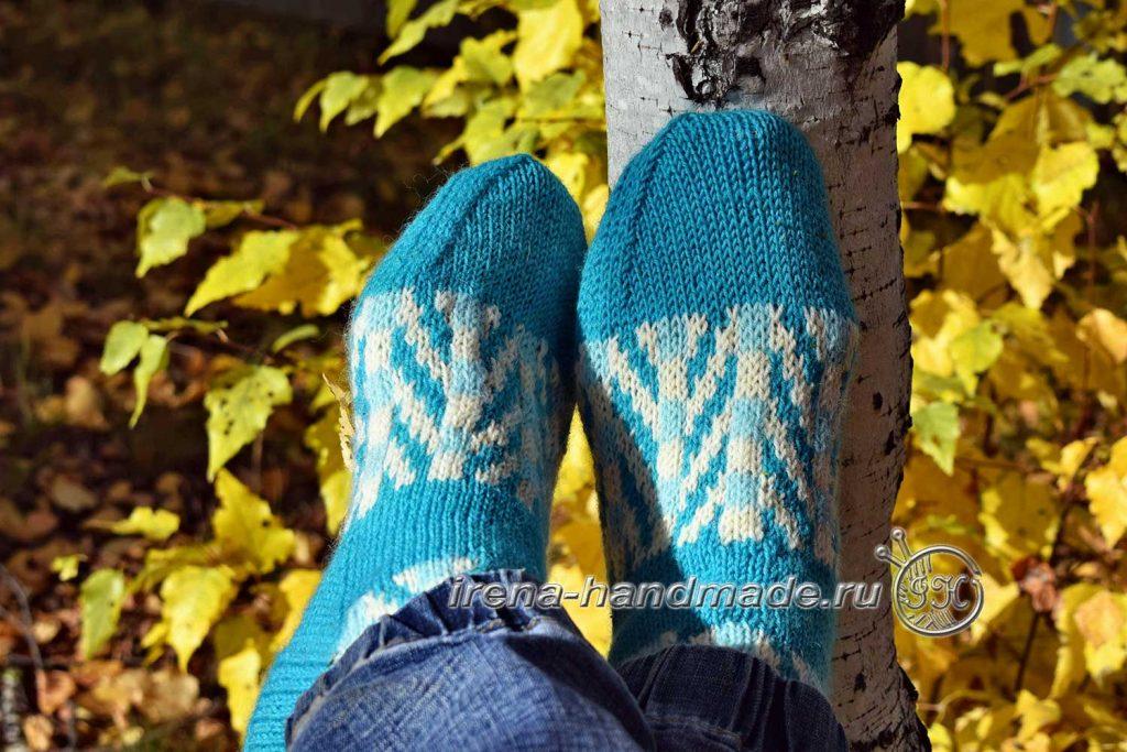 Носки с жаккардовым узором «Бораго» - мысок 3