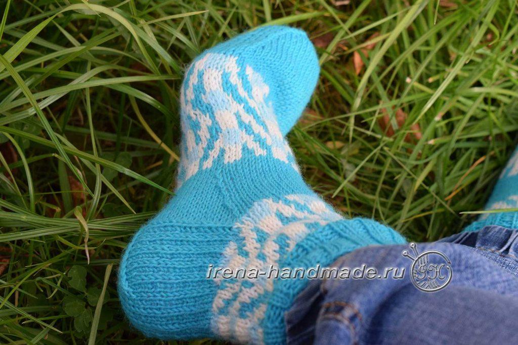 Носки с жаккардовым узором «Бораго» - прямая пятка