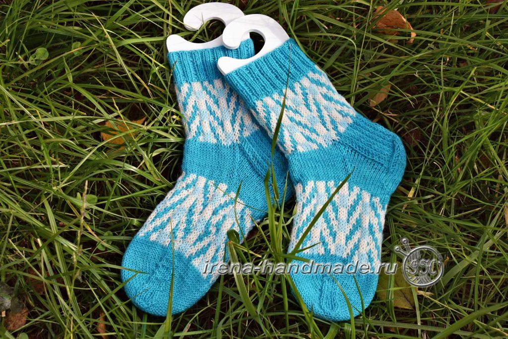 Носки с жаккардовым узором «Бораго» - вид на блокаторах