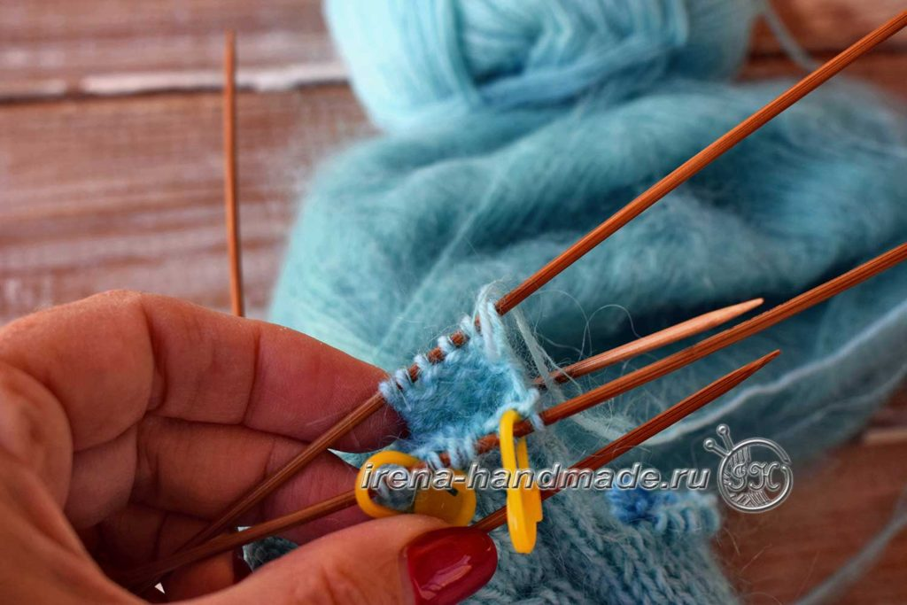 Перчатки с узором «Елочка» - указательный палец-1