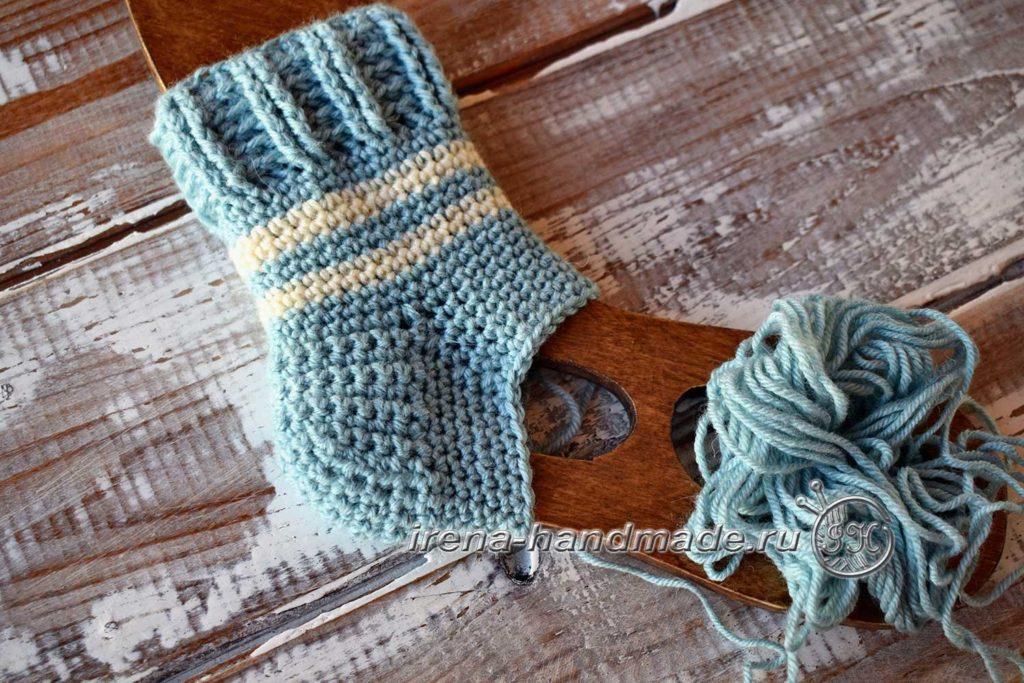 Детские носочки крючком - клин подъема