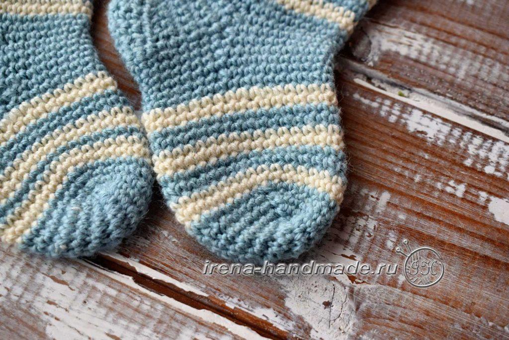 Детские носочки крючком - мысок 2