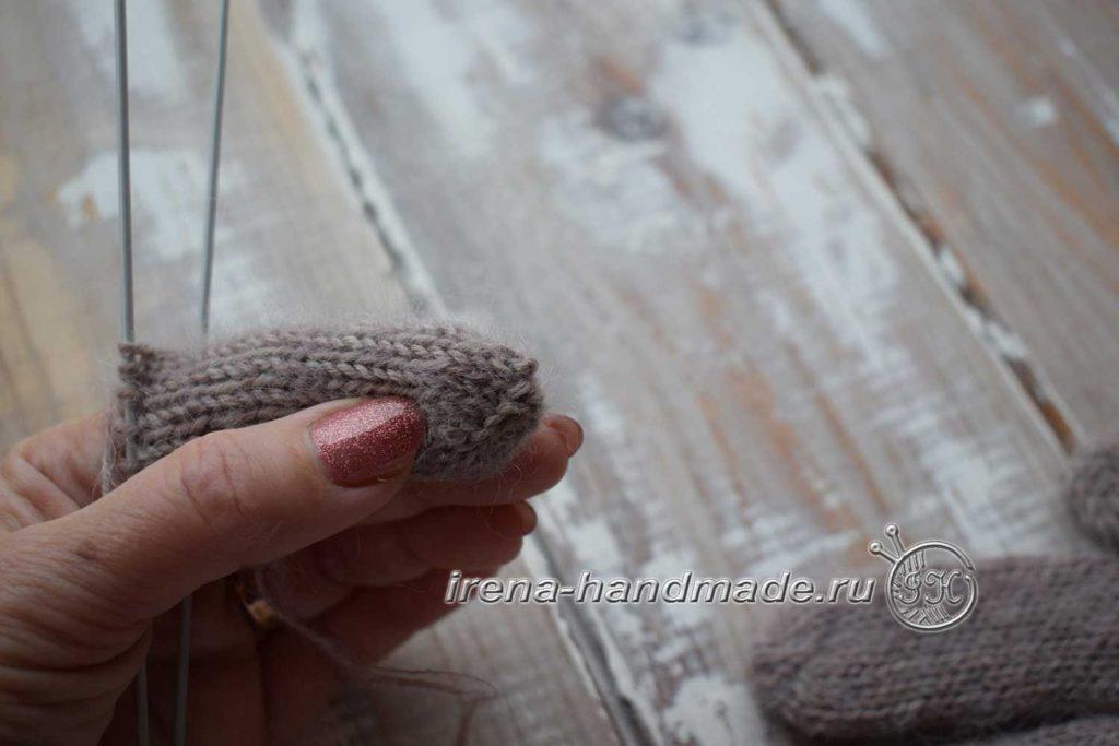 Мужские перчатки «Витторе» - мысок пальца