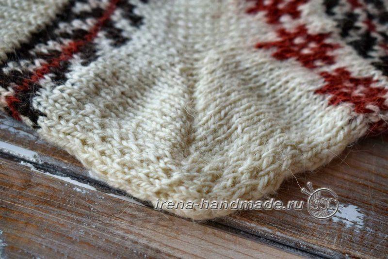 Носки с жаккардом «Рождество» - укрепленная пятка
