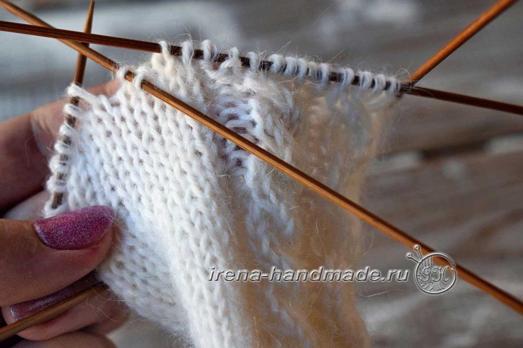 Варежки «Зимняя рапсодия» - клин большого пальца